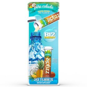 Zipfizz Energy Drink Mix, Piña Colada (30 ct.)