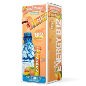 Zipfizz Energy Drink Mix, Peach Mango (20 ct.)