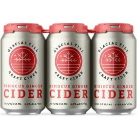 Glacial Till Hibiscus Ginger Cider (12 fl. oz. can, 6 pk.)