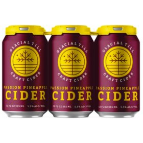 Glacial Till Passion Pineapple Cider (12 fl. oz. can, 6 pk.)
