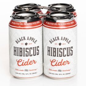 Black Apple Hibiscus Cider (12 fl. oz. can, 4 pk.)