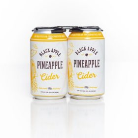 Black Apple Pineapple Cider (12 fl. oz. can, 4 pk.)