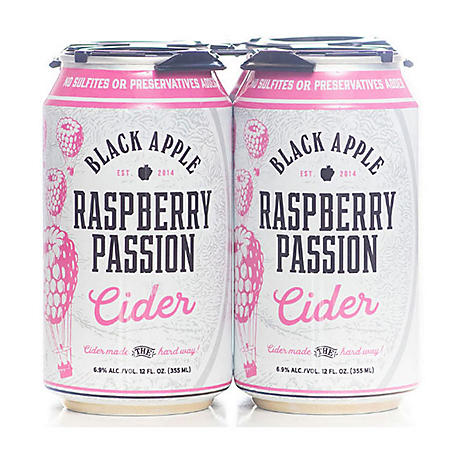 Black Apple Raspberry Passion Cider 12 fl. oz., 4 pk.)
