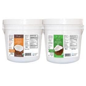 Tresomega Nutrition Organic Coconut Oil Pail (128 oz., 2 pk.)