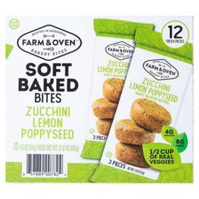 Farm & Oven Zucchini Lemon Poppyseed Bakery Bites (21.6 oz., 12 pk.)