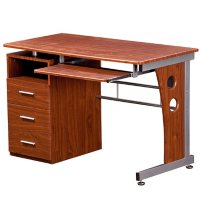 Techni Mobili Computer Desk with Ample Storage, Assorted Colors