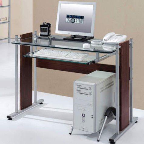 RTA-3331 Techni Mobili Glass & MDF Computer Desk