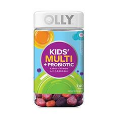 Lil' Ollys Kids' Multi + Probiotic Yum Berry Punch Vitamin Gummies (140 ct.)