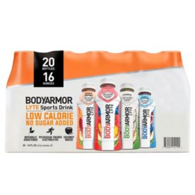 BODYARMOR LYTE Sports Drink Variety Pack (16 fl. oz., 20 pk.)