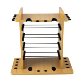 Rush Creek Creations 14-Fishing Rod Rack with Dual Rod Clips