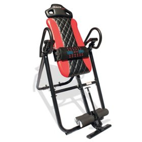 Health Gear HGI 4.2 Patent Pending Diamond Edition Heat & Vibration Massage Inversion Table, Red