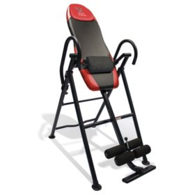 Body Vision IT9550 Deluxe Inversion Table with Adjustable Head Pillow & Lumbar Support Pad, Red