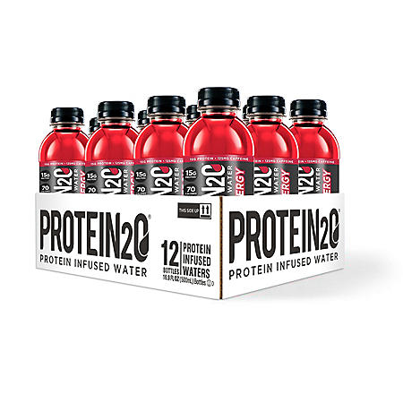 Protein2o - Protein Infused Water + Energy, Cherry Lemonade (16.9 fl. oz, 12 pk.)