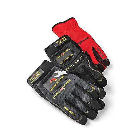 MagnoGrip 3-Pair Pack Premium Magnetic Gloves - Large
