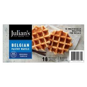 Julian's Recipe Belgian Pastry Waffles, Original Vanilla  (18 ct.)