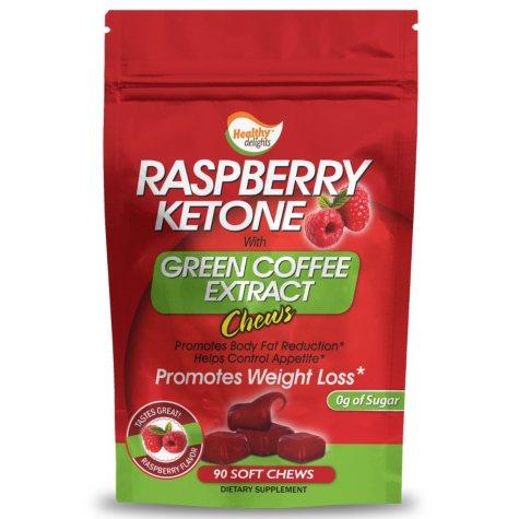 Raspberry Ketone Green Coffee Bean Chews - 90 ct.