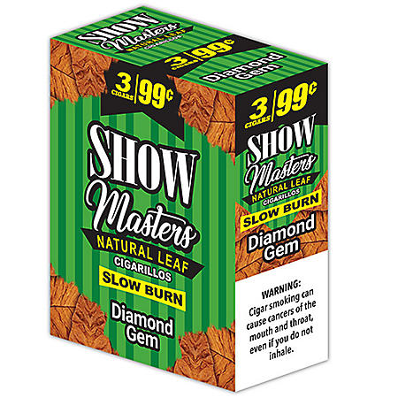 Show Masters Diamond Gem Cigarillos Pre-Priced 3 for $0.99 (3 ct., 15 pk.)