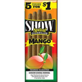 Show Mango Cigarillos, Pre-priced 5 for $1 (5 ct., 15 pk.)