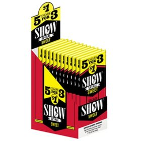 Show Spiral Sweet Cigars, Pre-priced 5 for $1 (5 ct., 15 pk.)