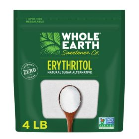WHOLE EARTH 100% Erythritol Zero Calorie Sweetener (4 lbs.)