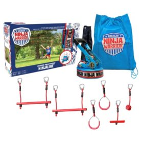 American Ninja Warrior Ninjaline Portable Jungle Gym & Training Set