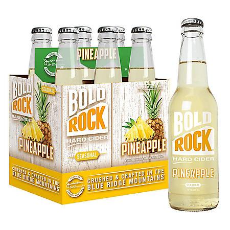 Bold Rock Seasonal Hard Cider, Pineapple (12 fl. oz. bottle, 6 pk.)