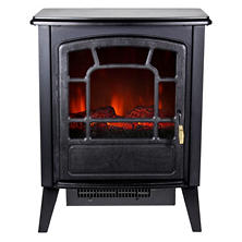 Warm House RSF-10324 Bern Retro Style Floor Standing Electric Fireplace - Black