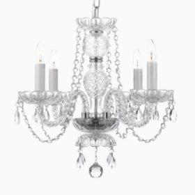 Harrison Lane Venetian-Style Crystal 4-Light Chandelier