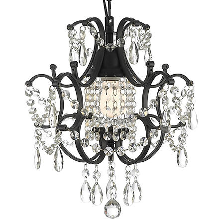 Harrison Lane Wrought-Iron and Crystal Chandelier