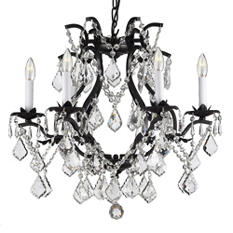 Harrison Lane Versailles Wrought-Iron and Crystal Chandelier