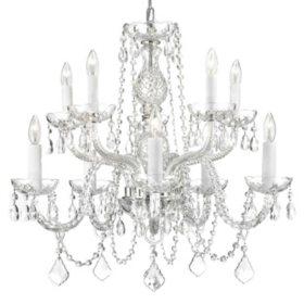 Harrison Lane Venetian-Style Crystal 10-Light Chandelier