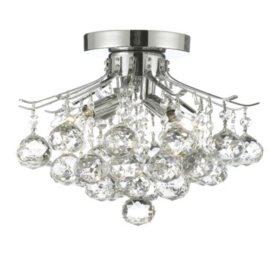 Harrison Lane Flush Mount Empire Crystal Chandelier (Silver)