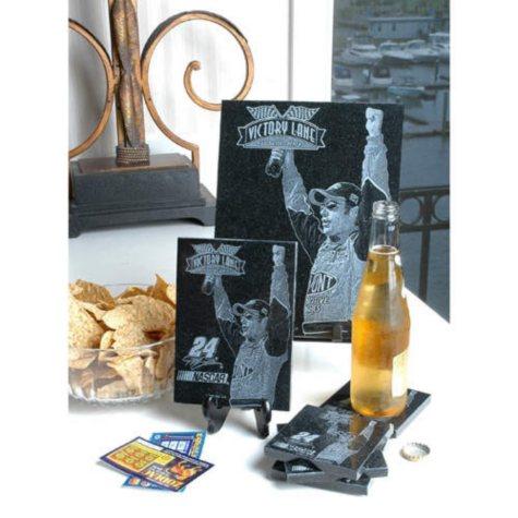 Jeff Gordon Granite Coaster Set