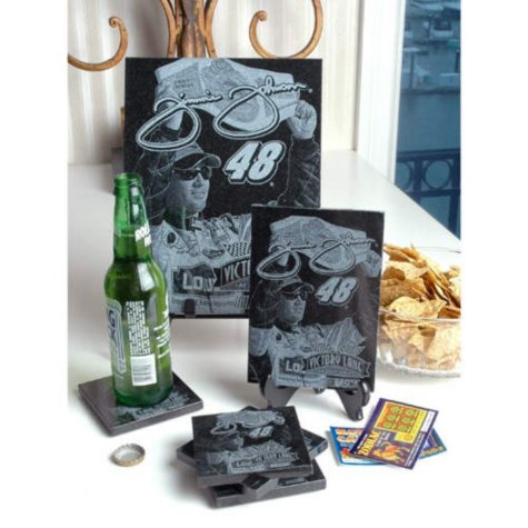 Jimmie Johnson Granite Coaster Set