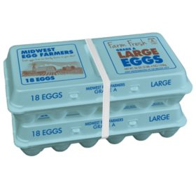 Midwest Farms Large Grade A White Eggs (36 ct.)