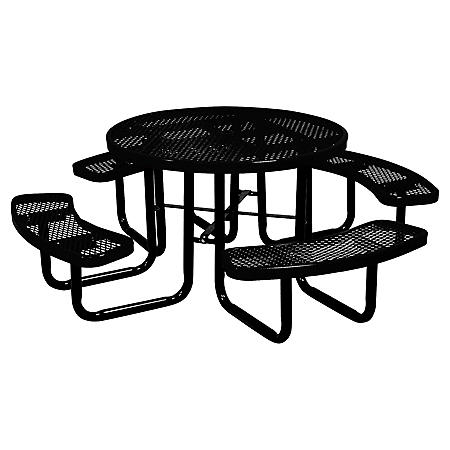 "Leisure Craft 46"" Round Expanded Metal Table (Various Colors)"