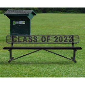 Leisure Craft Personalized Standard Expanded Metal Bench with Back (Various Colors)
