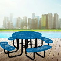 Leisure Craft 46-inch Round Expanded Metal Table Deals