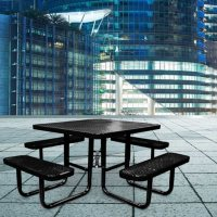 Leisure Craft 46-inch Square Expanded Metal Table Deals
