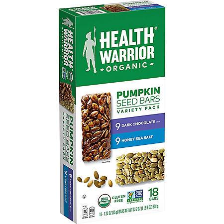 Health Warrior Pumpkin Seed Bars, Variety Pack (18 pk.)