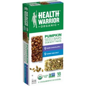 Health Warrior Pumpkin Seed Bars, Variety Pack (18 pk.)