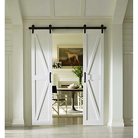 Four Seasons Outdoor Products Split Barn Door, Classic White Board and Batten (Select Sizes)