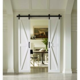 Four Seasons Outdoor Product Split Barn Door, Classic White Board and Batten (Select Sizes)