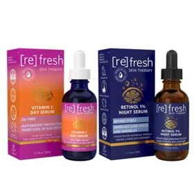 Refresh Skin Vitamin C Day and Retinol Night Serum Duo Pack (1 fl. oz., 2 pk.)