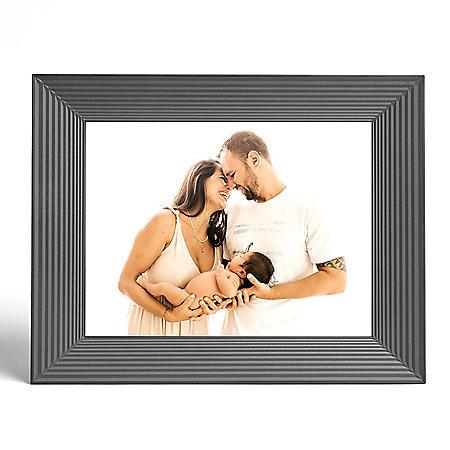 Aura Mason Graphite Smart Digital Photo Frame with Holiday Bonus Card