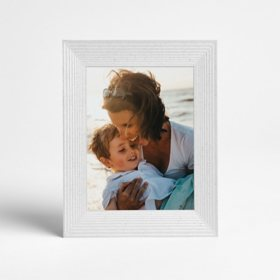 Aura Mason White Smart Digital Photo Frame with Holiday Bonus Card