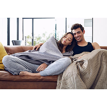 BlanQuil Weighted Blanket 15lb or 20lb (Assorted Colors)