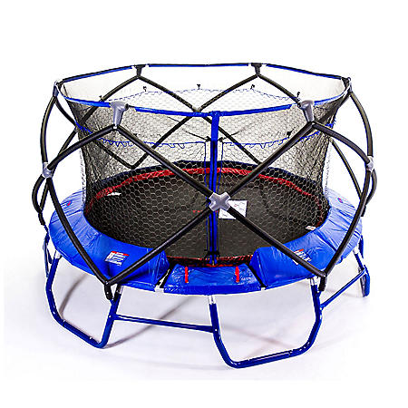 Monxter XT8 15-Foot Round Trampoline with Patent 2-Net Enclosure Combo, Blue