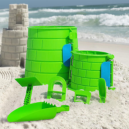 Create A Castle - Club Tower Kit, Split Mold Sand Castle Construction, Sand Castle Building Kit