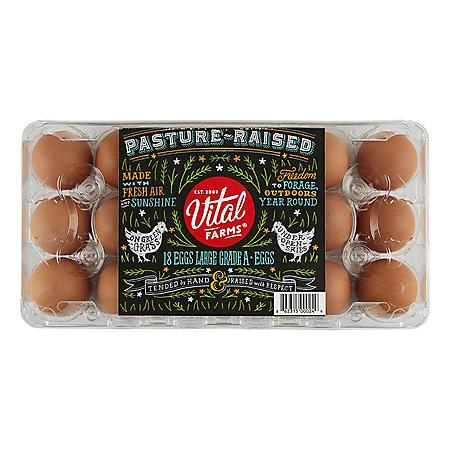 Vital Farms Pasture Raised Large Grade A Eggs (18 ct.)